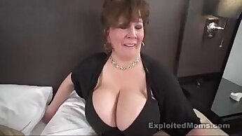 Chubby Mature TS In Interracial Threesome