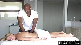 Crispy Blond Goes For a Ride On A Black Cock