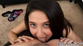 Beautiful Little Girl Catches A Monster Dick