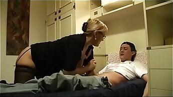 Amateur milf fuck and suck old aunt and he first public