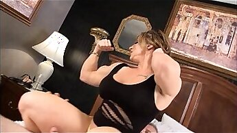 Beauteous gals dominate maledom