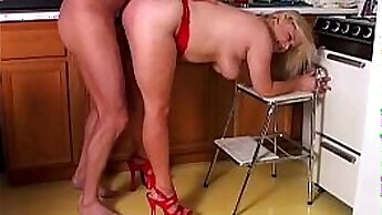 Chubby Blonde Mature gets Fucked and tit fucked