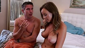 Busty Secretary Gave her Manager Dean a Big Cock