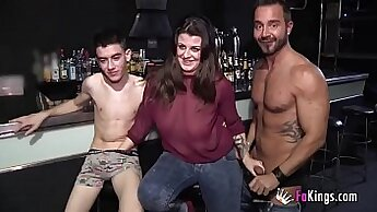 amazing threesome with Bobio e Syrian fan with beautiful sapphic babes