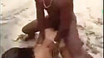 American teen plays beach fun in the sun