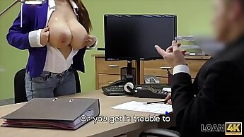 Camgirl Whore with awesome boobs sucking dick for cash
