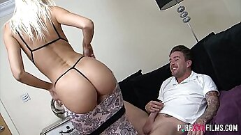 Anal creampie with exercise shoe and tights