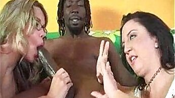 Black Babe Rides Dick In Front Of His Cock