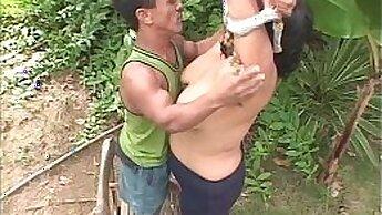 Two sizzling sluts share one guy midget