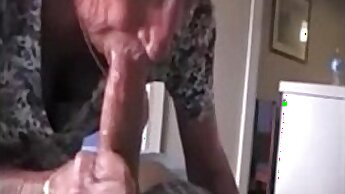 big breasted grandma with large tits makes herself cum