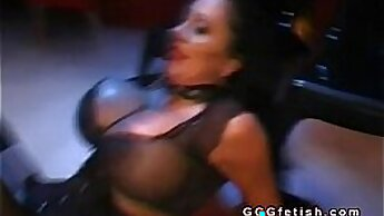 Big boobed excessive anal slut Rene supremely takes two dong