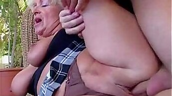British mom plays with young cock