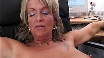 Blonde mature wanking and anal sex