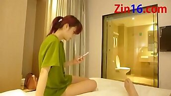 Amateur Chinese couple first blind date to an old friend