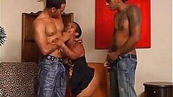 Black Midget With A Great Body Enjoying A Threesome