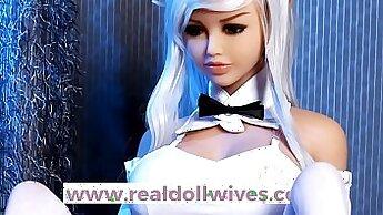 Beautiful doll Lana Foxx makes herself cum