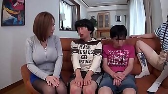 Amazing Japanese Satomi sucks and fucks on the couch