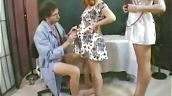 Chesty Pregnant Amateur Wife Bound by Her Doctor