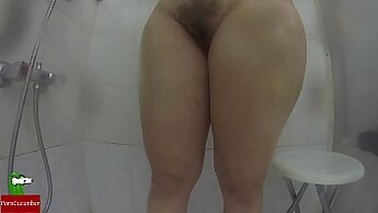 seriously evil masturbating in the shower