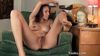 Brunette Girl Rubbing Thick Wet Pussy