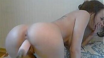 BBW Step Daughter Really loves the Fucking Machine