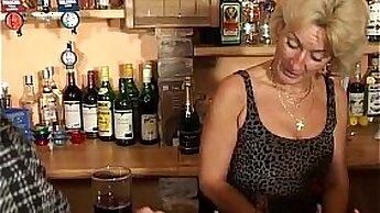 Blonde Granny Masturbates With Orgasm