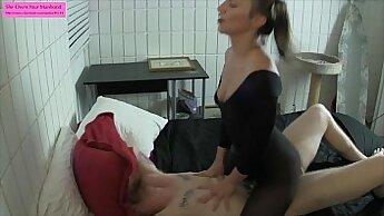 Angelic honey Georgina playing with her treating body
